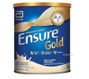 Original Abbott Ensure Gold Complete Nutrition Milk Powder Vanilla Flavor 850g