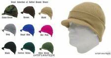 12pcs Beanie Skull Ski Skate Hat WITH VISOR Multi-Color 100% Arylic One Size