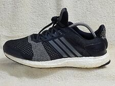 869235ee5f9 Adidas Ultra Boost ST mens trainers Black Grey White UK 8.5 EU 43