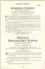1964 School Gosfield , Halstead Frinton Prep Thorpe-le-soken Pineger, P M
