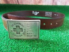 """Dr Martens brown leather Waist belt size 28-34"""" /71-86 waist,rare"""