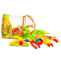 32x Plastic Simulation Repair  Tool Kit For Boys Kid Children Toy Set Funny MW