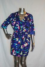 Womans YUMI KIM Blue Floral Belted Dress Size M