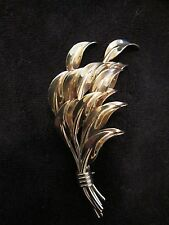 "of Leaves Brooch Pin 3"" Vintage Signed Winard 12kt Gf Bouquet"