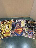 Lot: 3 Superman In Action Comics 692, 693, 673  *1992-1993 DC Comics