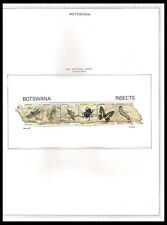 BOTSWANA 1981 INSECT ISSUE ON PAGE (UHM) *CLEAN & FRESH*