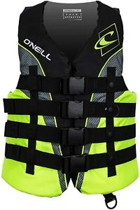 O'Neill MEDIUM Mens SuperLite USCG Life Vest Jacket Wakeboard Black
