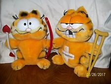 Vintage 1981 Garfield Plush Lot of 2 Cupid & Don't Need This