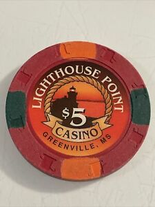 LIGHTHOUSE POINT $5 Casino Chip Mississippi 3.99 Shipping