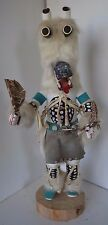 Vintage Kachina Indian White Wolf Doll Begay ? Signed 18.5""