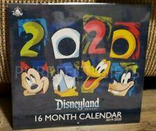 Disney'S Disneyland Resort 16 Month Wall Calendar 2019-2020~New~Monthly Scenes