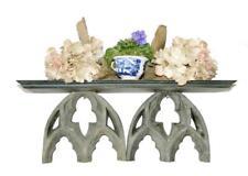 "20"" Wood Resin Drift Wood Wall Shelf Distressed Earthy Grey Tones Cottage Gothic"