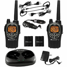 Midland Walkie Talkie FRS GMRS 50 Channel 36 Mile Range 2 Way Radios LCD Black
