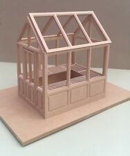 Greenhouse Kit & Staging, Dolls House Miniature, Garden , With Pre Cut Acetate
