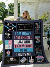 LGBT This Is Me Born This Way - LGBT Pride Fleece, Quilt Blanket Made in US NEW
