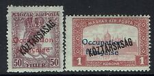 Hungary SC# 1N35 and 1N36, Mint Hinged, sm Hinge Rems, Expert Mark - Lot 011117