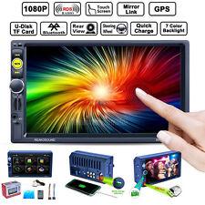 "7"" Double 2 Din Touchscreen Car GPS Nav Bluetooth MP3 MP5 Player FM/AM/RDS + Map"
