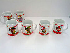 Loacker wafer cookies promo ceramic coffee mug set with character graphics