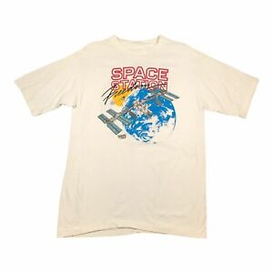 1989 Vintage SPACE STATION FREEDOM Mens T Shirt Large   Single Stitch
