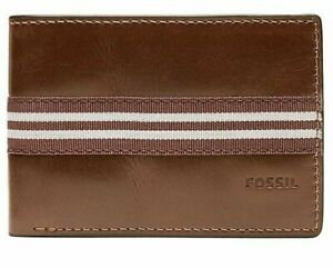 NWT Fossil Jared Front Pocket Wallet - Bifold - Brown
