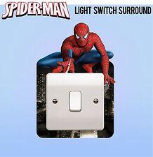 Spiderman Marvel Avengers Interruttore Della Luce Surround Adesivo Copertura Vinile Bambini Camera Da Letto