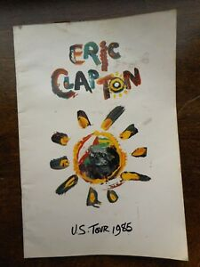 Eric Clapton 1985 U.S. Tour Vintage BOOK Rock N Roll Concerts Groupie Pre-owned