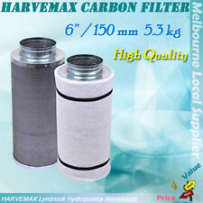 "Hydroponics 6"" /150mm Activated Carbon Filter For Grow Tent Duct Ventilation Fan"