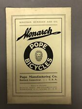 """1906 Monarch Pope Bicycles Brochure 9"""" X 6"""""""