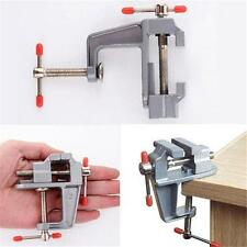 Miniature Vise Small Jewelers Hobby Clamp On Table Bench Tool Vice Aluminum - S