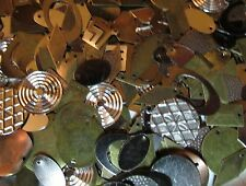 1/4 Lb Stamped Metal Dangles/ Charms/ Drop Findings- Simple Geometric Shapes