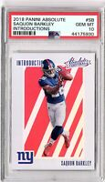 2018 Panini Absolute 'Intoductions' #SB Saquon Barkley PSA GEM MINT 10 ROOKIE