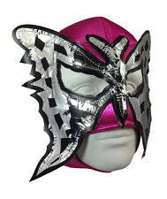 LUCHADORA PINK BUTTERFLY MEXICAN LUCHA LIBRE LUCHADOR ADULT WRESTLING MASK