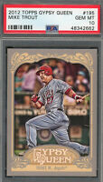 Mike Trout Los Angeles Angels 2012 Topps Gypsy Queen Baseball Card #195 PSA 10
