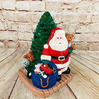 Ceramic Santa with Christmas Tree Animals and Presents