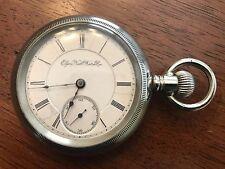 1893 Elgin 18s  B.W. Raymond 15j Railroad Grade Pocket Watch Philadelphia Case