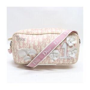 Christian Dior Shoulder Bag GirlyLine Pinks Canvas 2401733
