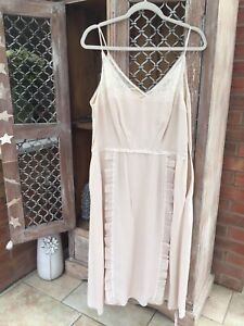Prada Silk Slip Dress Blush Size IT 48 UK 16 New RRP £1000