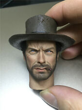 1/6 Custom Clint Eastwood A Fistful Of Dollars Head Sculpt for Phicen Body