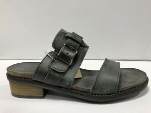 Naot, Flower Womens Sandals Oily Midnight Suede Size 42EUR 11 M