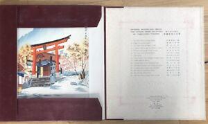 "Original 6 JAPANESE WOODBLOCK PRINTS "" THE FIFTEEN VIEWS OF KYOTO by Tokuriki"