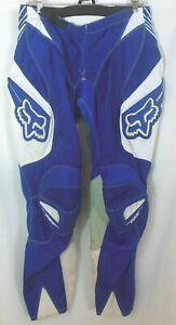 Fox 180 Racing Pants W32 Blue White Motocross Dirt Bike Off Road ATV VGUC