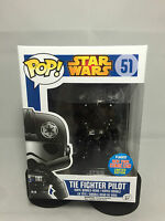 Star Wars Tie Fighter Pilot Chrome 2015 NYCC Exclusive Funko Pop Vinyl