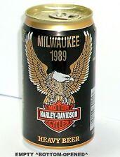 NICE 1989 MILWAUKEE HARLEY-DAVIDSON CYCLE BEER CAN HUBER-BERGHOFF WISCONSIN BIKE