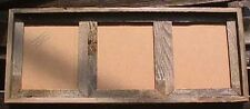 3-8x10 barnwood barn wood multi picture photo frame