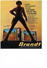 PUBLICITE  1974     BRANDT  téléviseur