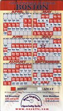 2012 Boston Red Sox Magnet Schedule