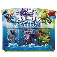Skylanders Spyro's Adventure Character 3-Pack__LIGHTNING ROD_CYNDER_ZOOK_New_MIP