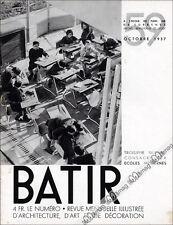 BATIR N°59 ART DECO - LES ECOLES SILLY REINE ASTRID SERAING ATHENEE ROYAL 1937