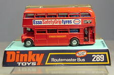"DINKY TOYS No.289 ROUTEMASTER BUS ""  ESSO SAFETY GRIP TYRES""   DECALS   MIB"