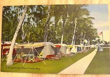 A Trailer Camp Down Florida Way. Linen Postcard c. 1940s